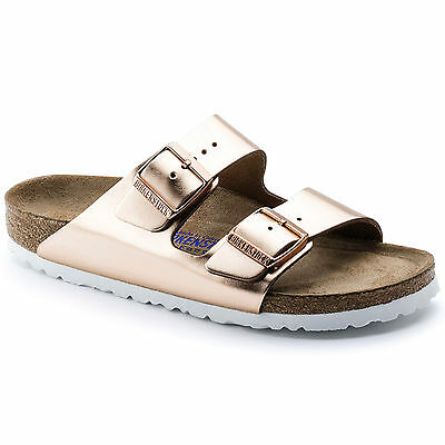 Birkenstock Leather ARIZONA $179rrp Metallic Copper SOFT FOOTBED BNIB 952093
