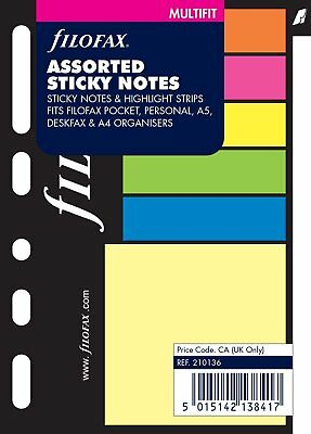 Filofax Pocket, Sticky Notes Assorted Colors, Color May Vary Multi-Fit B210136