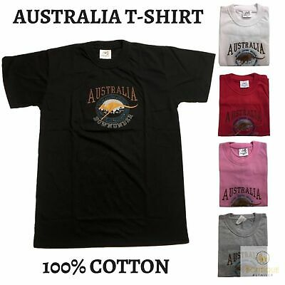 Adult AUSTRALIAN T Shirt Australia Day 100% COTTON Souvenir Tee Top Flag