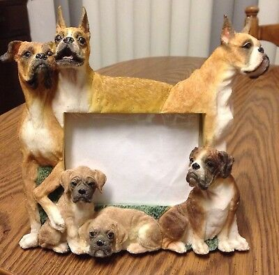 Boxer Dog And Puppy Photo Frame -- New