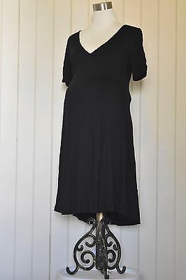 Simple ASOS black dress. V-neck. VGC. Size 10