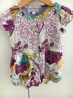 Daisy & Moose White Floral Balloon Romper Size 12-18 Months