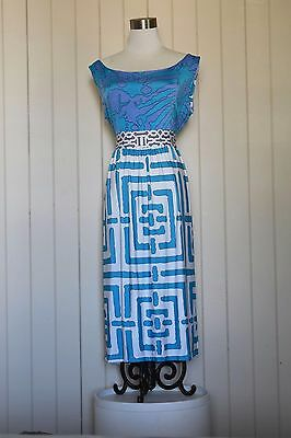 Blue & white patterned Olian maxi dress. Used as maternity dress.As New. Size L