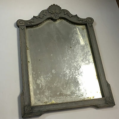 Grey Antique Victorian Timber Carved Mirror Frame
