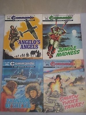 Job Lot of 4 Commando Comics     #2275   #2307   #2309   #2310
