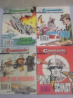 Job Lot of 4 Commando Comics   #2351   #2352   #2353   #2399