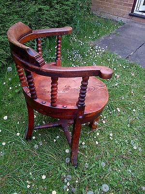 "Old Antique ""captain's Chair"" Age Unknown -  Wow Looook"