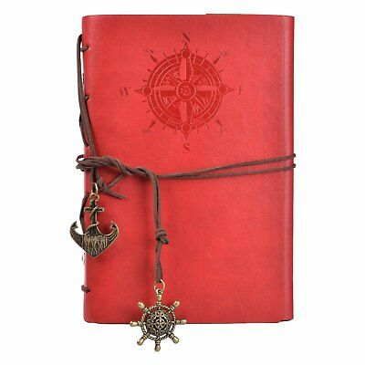 Haiker 7Inches x5Inches Vintage Retro Leather Cover Notebook Journal Blank Dark