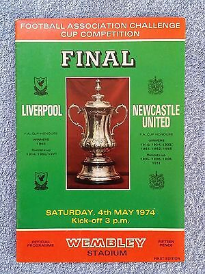 1974 - FA CUP FINAL PROGRAMME - LIVERPOOL v NEWCASTLE UNITED