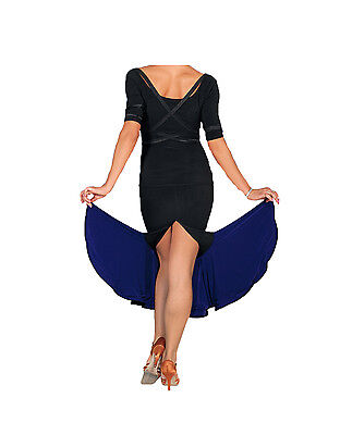 Black & Purple Skirt great for Latin Dancing - Size 10 - A Grade Condition