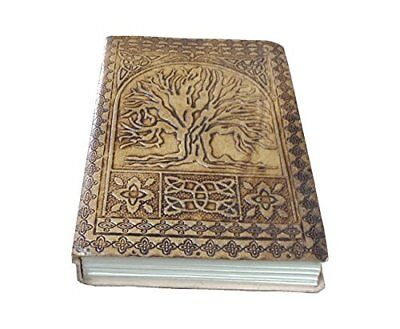 Handmade Tree of Life Embossed Leather Journal Leather Notebook Diary 7x5 Blank