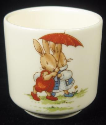Royal Doulton Bunnykins 'Under a Red Umbrella' Egg Cup 1976-87