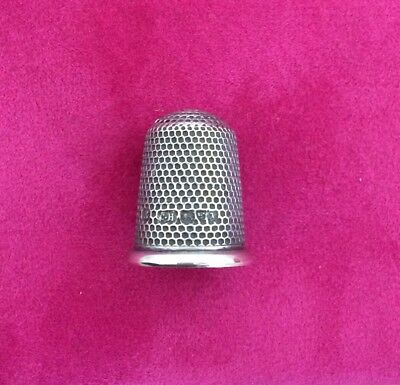 Charles Horner Solid Sterling Silver Thimble