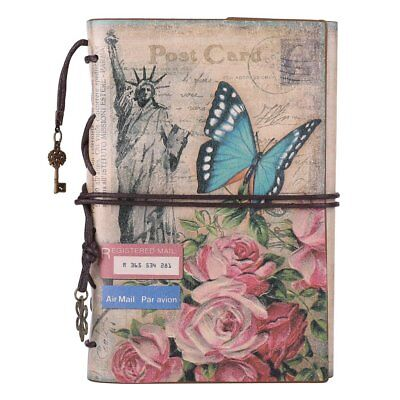 Leather Journal Notebook, MALEDEN Spiral Bound Daily Notepad For Women Men Diary