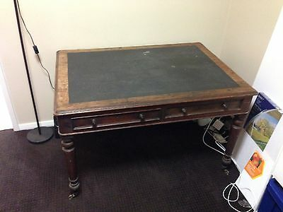 Antique mahogany partners desk late 1800s