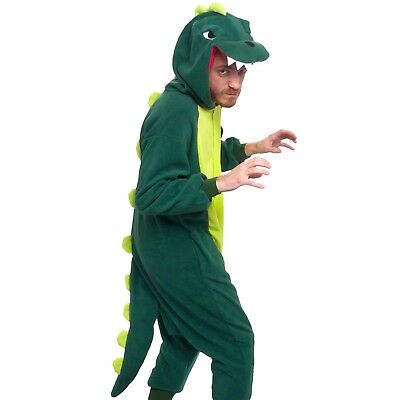 Silver Lily Funny Adult Pajamas Cosplay Animal Costume Dinosaur Size L Men Women