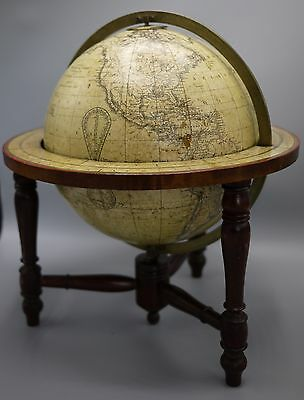 A Good Antique 10 Inch Diameter Terrestrial Table Globe By Smith & Son C.1870