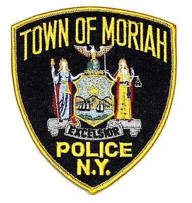 MORIAH NEW YORK NY Police Sheriff Patch STATE SEAL SUN SCALE STAFF EAGLE ~