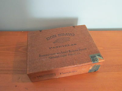 Old Cigar Box Don Bravo Panetelas New York Wooden Box (A)