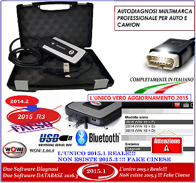 AUTODIAGNOSI MULTIMARCA  PROFESSIONALE 3IN1 V.2015.1 CON BLUETOOTH Novita 2016