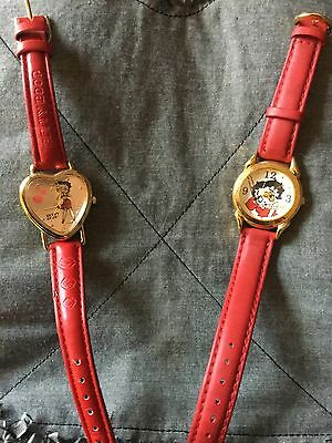 2 Betty Boop Vintage Ladies Watches 1ValDawn, 1 Fantasma