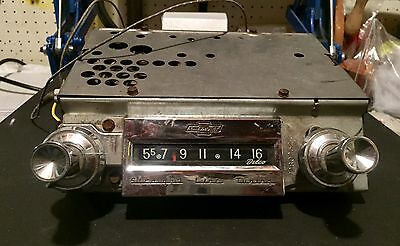 Vintage Chevrolet 1961-63 Chevy Chrome Radio Straight Line Tuning 7280252-3