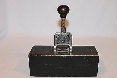 Vintage Bates Postal Multiple Numberer Stamp Telegraph Cable Co WITH WOOD BOX