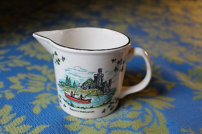 Carrigaline Pottery Galway Creamer - Made in Ireland Cork Vintage Gold Trimmed