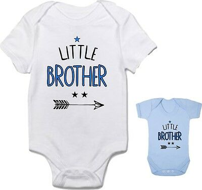 Baby boy clothing 'LITTLE BROTHER' cute bodysuit babygrow **FANTASTIC GIFT**