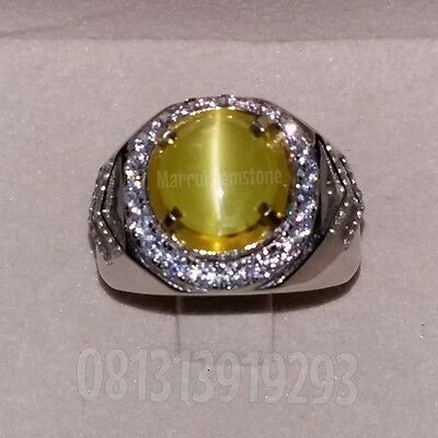 Natural Alexandrite chrysoberyl cats eye 4.29ct Srilanka Ring silver Certified