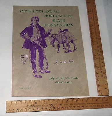 1948 - Forty-Sixth Annual MONTANA ELKS STATE CONVENTION - illustrated Program