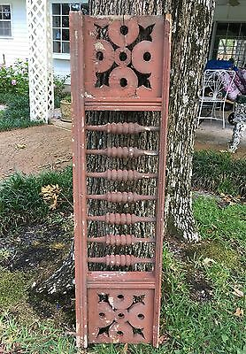 "ANTIQUE RAILING  w BALUSTERS 1800s ARCHITECTURAL SALVAGE VICTORIAN 52"" DESIGN"