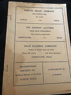 sweetwater texas revival song book, 1940s