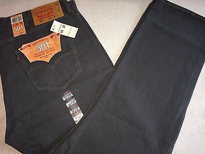 Levi's Men 501 Original Fit Straight Leg Jeans-Dark Charcoal Size 44x32 - NWT
