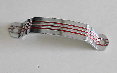 Vintage Drawer Pull N61-158B Handle National Lock Company Chrome Red Lines NOS