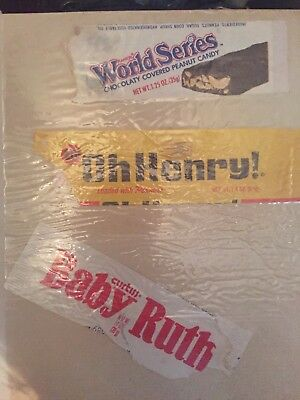 1970s or '80s Oh Henry . Babe Ruth World Series Candy Bar Wrappers