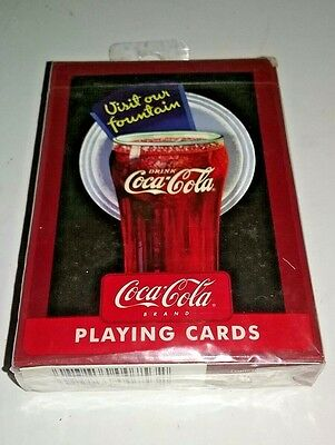 Coca Cola® VISIT OUR FOUNTAIN Playing Cards Featuring Advertisements - NIP