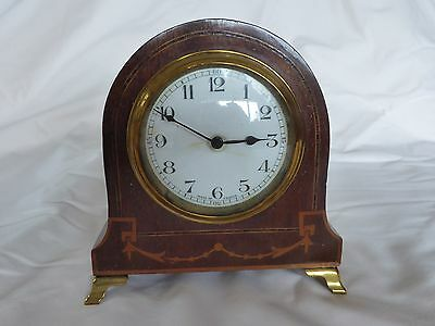 French Inlaid Mantle Clock
