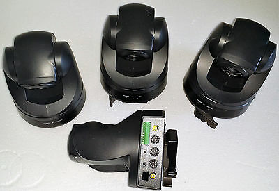 Lot of four (4) Used Sony EVI-D70 Color Video Camera - 3 Are In Good Condition.