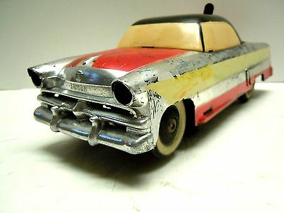 "IRWIN Plastic / Tin Battery Operated 1954 Ford Skyliner 9.25"" Good Cond Works"