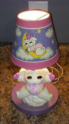 Vintage LAMB CHOP Baby / Child's TABLE Nursery LAMP Shari Lewis Enterprises Lamb