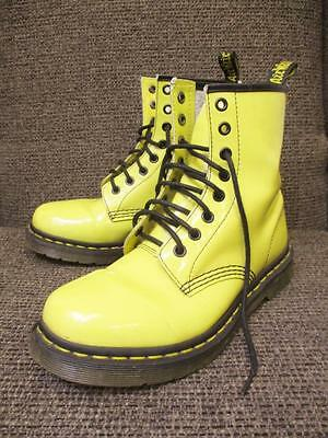 UK 5 - Vintage Dr Martens AirWair Yellow Boots Shoes Retro Funky