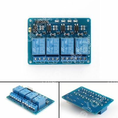 5V 12V 4-Channel Relay Module With Optocoupler High Level Triger For Arduino USA