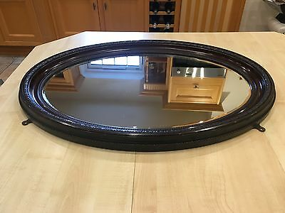 Antique 19th Century Large Oval Wall Mirror