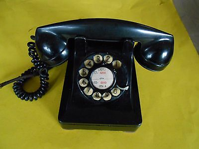 Vintage  Bell System Western Electric Metal Rotary Dial Desk Telephone Blk