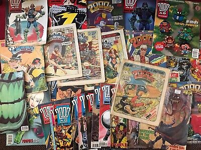 Lot - 30 Issues Of 2000Ad - Some Issues From 1982 To 1994