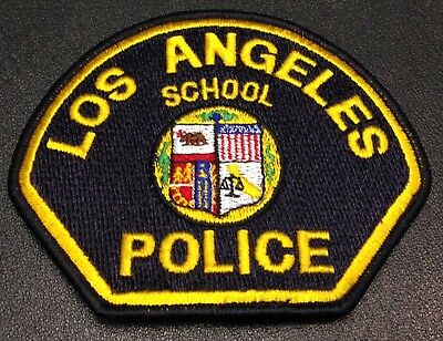 Obs. California Police Patch Los Angeles Police School Police