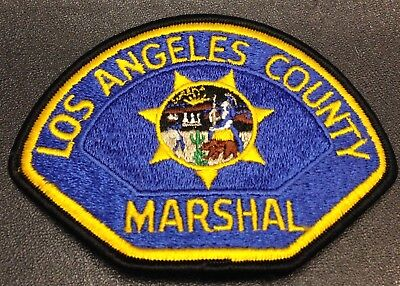 Obs. California Police Patch Los Angeles County Marshal