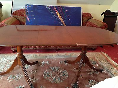 Beautiful Antique Regency Style Yew Extendable Dining Table