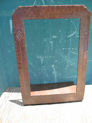 Roycroft Bookend or Frame Arts & Crafts Hammered Copper Antique Original Mark